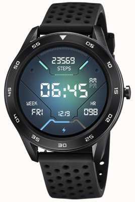 Lotus Homens | smartime | pulseira de silicone preto + pulseira grátis 50013/5