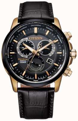 Citizen Calibre 8700 relógio perpétuo do calendário   couro marrom escuro BL8156-12E