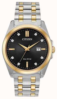 Citizen Relógio masculino de dois tons de diamantes corso com direção ecológica BM7107-50E