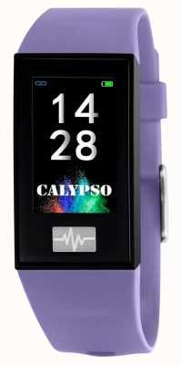 Calypso Unissex | smartime | pulseira de silicone roxo + pulseira grátis K8500/2