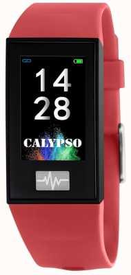 Calypso Unissex | smartime | pulseira de silicone vermelho + pulseira grátis K8500/4