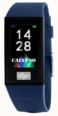 Calypso Unissex | smartime | pulseira de silicone azul + pulseira grátis K8500/5