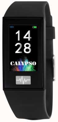 Calypso Unissex | smartime | pulseira de silicone preto + pulseira grátis K8500/6