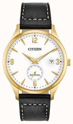 Citizen Relógio masculino com pulseira eco-drive ouro ip estojo preto BV1112-05A