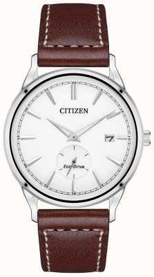 Citizen Relógio masculino com pulseira eco-drive de aço inoxidável marrom BV1119-14A