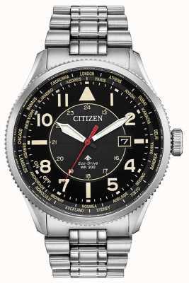 Citizen Relógio masculino promaster nighthawk de aço inoxidável preto BX1010-53E