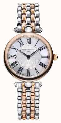 Frederique Constant Arte déco feminina | pulseira de aço bicolor | madrepérola FC-200MPW2AR2B