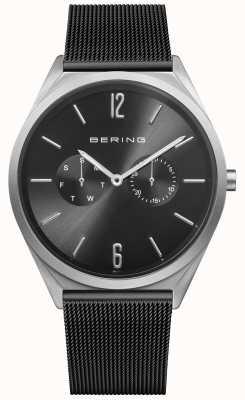 Bering Ultra fino | pulseira de malha de aço preto | mostrador preto 17140-102