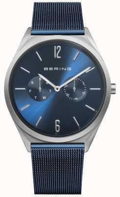 Bering Ultra fino | pulseira de malha de aço azul | mostrador azul 17140-307