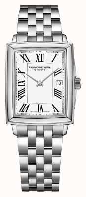 Raymond Weil Tocata feminina | pulseira de aço inoxidável | mostrador branco 5925-ST-00300