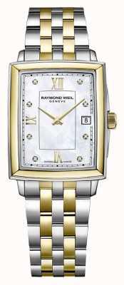 Raymond Weil Tocata feminina | pulseira de aço bicolor | mostrador de diamante 5925-STP-00995