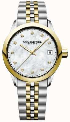 Raymond Weil Mulheres | freelancer | diamante | madrepérola | dois tons 5634-STP-97081