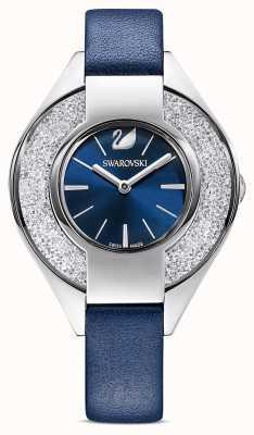 Swarovski Desportivo cristalino | pulseira de couro azul | mostrador azul 5547629
