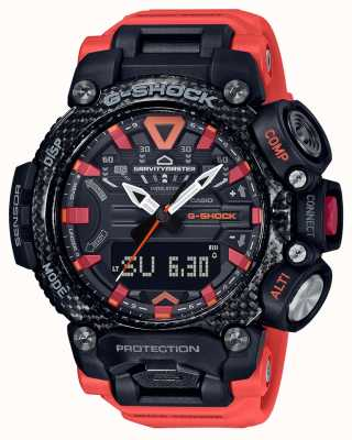 Casio G-shock | gravitymaster | núcleo de carbono | bluetooth | laranja GR-B200-1A9ER