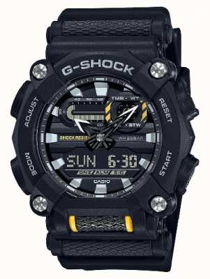 Casio G-shock | serviço pesado | hora mundial | resina preta GA-900-1AER