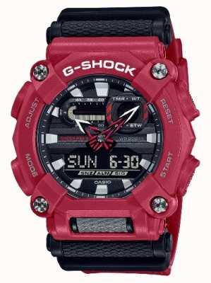 Casio G-shock | serviço pesado | hora mundial | resina vermelha GA-900-4AER