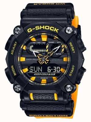 Casio G-shock | edição ltd | serviço pesado | hora mundial | amarelo GA-900A-1A9ER