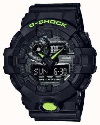 Casio G-shock | camuflagem digital | resina preta GA-700DC-1AER
