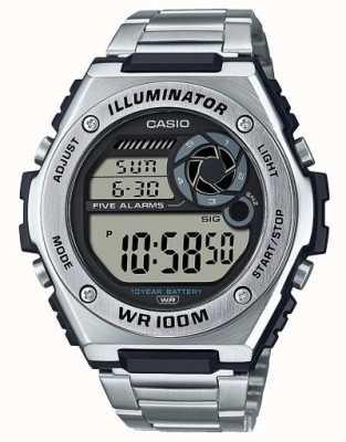 Casio Digital | iluminador | aço inoxidável | MWD-100HD-1AVEF
