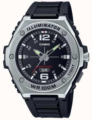Casio Iluminador | mostrador preto | pulseira de resina preta MWA-100H-1AVEF