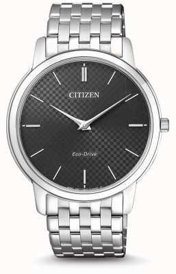 Citizen Relógio masculino com mostrador preto ultrafino AR1130-81H