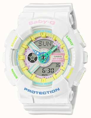 Casio Relógio com detalhes arco-íris Baby-g decora BA-110TM-7AER