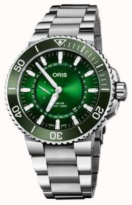 ORIS Edição limitada aquis diver hangang mostrador verde 01 743 7734 4187-SET
