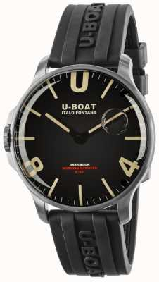 U-Boat Darkmoon 44 mm com pulseira de borracha de aço inoxidável 8463