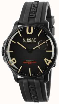 U-Boat Darkmoon 44 mm ipb preto | tira de borracha 8464-BLACK