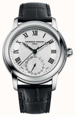 Frederique Constant Clássico masculino automático | pulseira de couro preta | mostrador prateado FC-710MC4H6