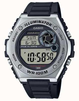 Casio Iluminador   pulseira de silicone preta MWD-100H-1AVEF