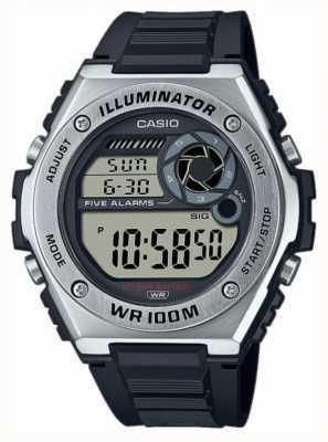 Casio Iluminador | pulseira de silicone preta MWD-100H-1AVEF
