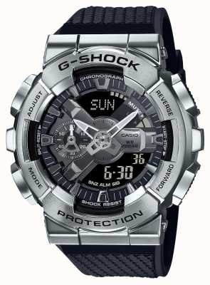 Casio G-shock | pulseira de resina texturizada | mostrador prateado | hora mundial GM-110-1AER