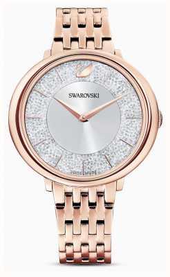 Swarovski Cristalino | pulseira de aço banhado a ouro rosa | dial glitter 5544590