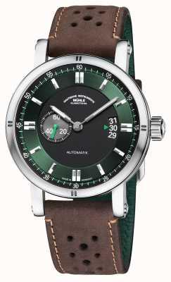 Muhle Glashutte Teutonia sport ii | pulseira marrom vintage M1-29-74-LB-B