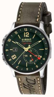 U-Boat Mostrador verde dual time 1938 doppiotempo 8500