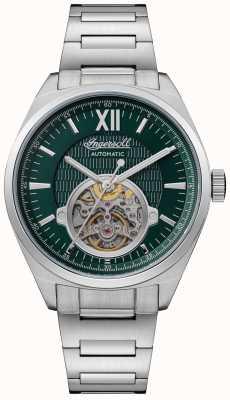 Ingersoll A pulseira de aço inoxidável com mostrador verde automático shelby I10903