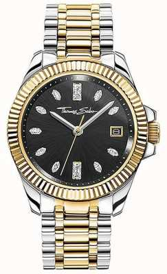 Thomas Sabo | mulheres | divino | pulseira de aço bicolor | mostrador preto | WA0370-291-203-33