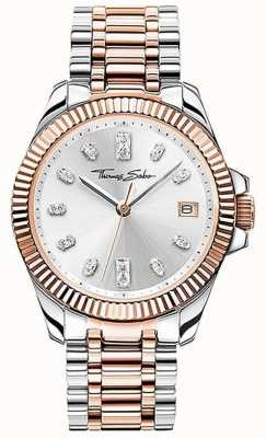 Thomas Sabo | mulheres | divino | pulseira de aço bicolor | mostrador prateado | WA0371-277-201-33