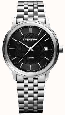 Raymond Weil Maestro masculino automático | pulseira de aço inoxidável | 2237-ST-20001