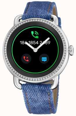 Festina Smartime | pulseira de brim azul | tela colorida | pulseira de couro branco adicional F50000/1