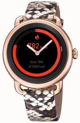 Festina Smartime | pulseira de couro estampada para senhora | caixa em ouro rosa | pulseira rosa adicional F50001/2
