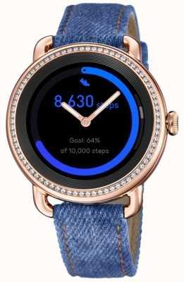 Festina Smartime | pulseira de ganga para senhora | tela colorida | conjunto de cristal | cinta adicional F50002/1
