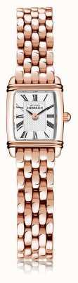 Michel Herbelin Art déco | pulseira feminina de aço banhado a ouro rosa | mostrador branco | numeral romano | 17438/PR08B