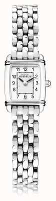 Michel Herbelin Art déco | pulseira de aço inoxidável para senhora | mostrador branco | 17438/22B