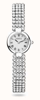 Michel Herbelin Perles | pulseira de aço inoxidável para senhora | mostrador branco 17433/B08
