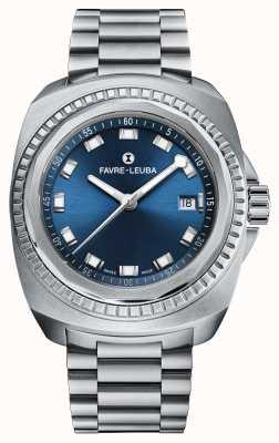 Favre Leuba Rei do mar Raider | pulseira de aço inoxidável | mostrador azul 00.10107.08.51.20