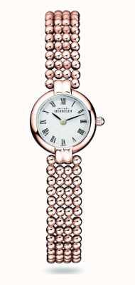 Michel Herbelin Perles | pulseira feminina de aço banhado a ouro rosa | mostrador branco 17433/BPR08