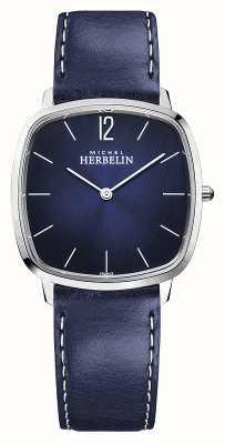 Michel Herbelin Cidade | pulseira de couro azul para homem | mostrador azul 16905/15BL