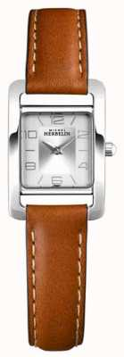 Michel Herbelin Avenida V | pulseira de couro marrom | mostrador prateado 17437/21GO
